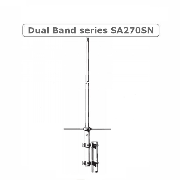 Sirio SA270SN Dual Band 2m / 70cm Base antenna